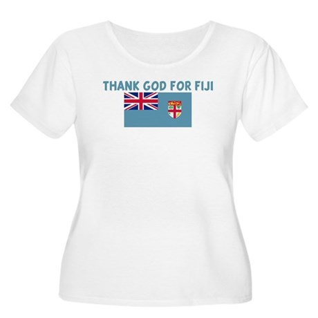 THANK GOD FOR FIJI Women's Plus Size Scoop Neck T-