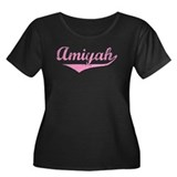 Amiyah Vintage (Pink) Women's Plus Size Scoop Neck