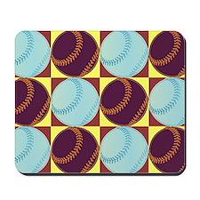 Pop Art Baseball Mousepad