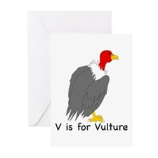 V is for Vulture Greeting Cards (Pk of 10)