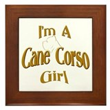 Cane Corso Girl Framed Tile