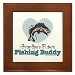 Grandpa's Future Fishing Buddy Fisherman Framed Ti