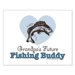 Grandpa's Future Fishing Buddy Fisherman Small Pos