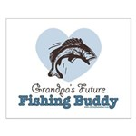 Grandpa's Future Fishing Buddy Fisherman Small Pos