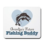 Grandpa's Future Fishing Buddy Fisherman Mousepad