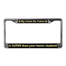 Honor Student Coton De Tulear License Plate Frame