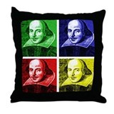 Pop Art Shakespeare Throw Pillow