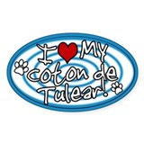 Hypno I Love My Coton De Tulear Sticker Blue