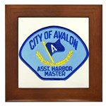 Avalon Harbor Master Framed Tile