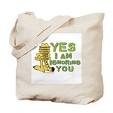 Ignoring you Garfield Tote Bag