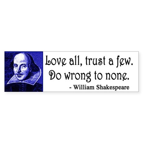 Pop Art Shakespeare Sticker (Bumper)