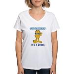 Cool Garfield Women's V-Neck T-Shirt