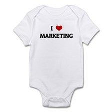 I Love MARKETING Onesie