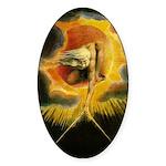 William Blake Oval Sticker