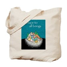 Peace to All Beings Tote Bag