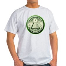 The Great Seal - Pyramid Eye Ash Grey T-Shirt