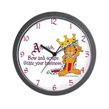 King Garfield Wall Clock