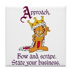 King Garfield Tile Coaster