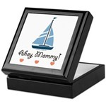 Ahoy Mommy Sailboat Sailing Keepsake Box