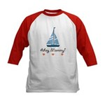 Ahoy Mommy Sailboat Sailing Kids Baseball Jersey