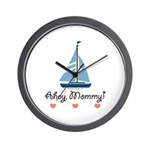 Ahoy Mommy Sailboat Sailing Wall Clock