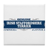 IRISH STAFFORDSHIRE TERRIER Tile Coaster