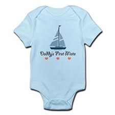 Daddy's 1st Mate Sailing Sailboat Infant Bodysuit