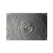 Metallic Rose Rectangle Magnet (10 pack)