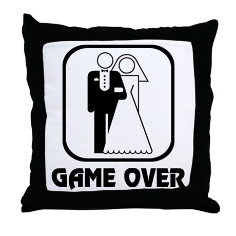Wedding Symbol: Game Over Throw Pillow