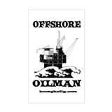 Offshore Oilman Rectangle Decal