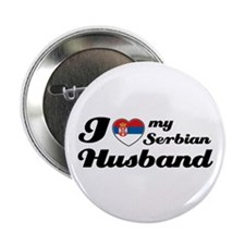 "I love my Serbian Husband 2.25"" Button (10 pack)"