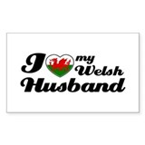 I love my Welsh Husband Rectangle Decal
