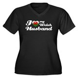 I love my Welsh Husband Women's Plus Size V-Neck D