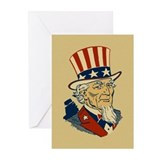 Retro Uncle Sam Greeting Cards (Pk of 10)