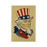 Retro Uncle Sam Rectangle Magnet