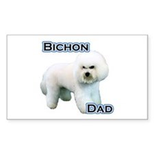 Bichon Dad4 Rectangle Decal