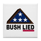 BUSH LIED Tile Coaster