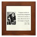 Oscar Wilde 15 Framed Tile