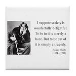 Oscar Wilde 15 Tile Coaster