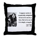 Oscar Wilde 15 Throw Pillow