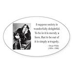 Oscar Wilde 15 Oval Sticker