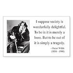 Oscar Wilde 15 Rectangle Sticker