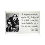 Oscar Wilde 15 Rectangle Magnet (100 pack)