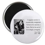 "Oscar Wilde 15 2.25"" Magnet (10 pack)"