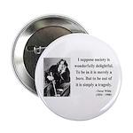 """Oscar Wilde 15 2.25"""" Button (100 pack)"""