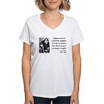 Oscar Wilde 15 Women's V-Neck T-Shirt