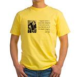 Oscar Wilde 15 Yellow T-Shirt