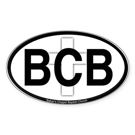 Baker's Chapel Oval Sticker