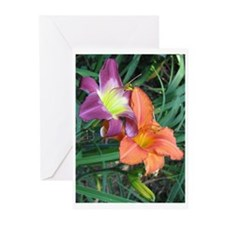 Cool Purple lily Greeting Cards (Pk of 10)