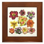 Ten Daylilies Framed Tile
